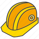 engineer, helmet, labor, safety icon