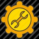 cog, fix, gear, repair, setting, wrench