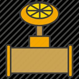 equipment, gauge, industry, pipe, tap, valve icon