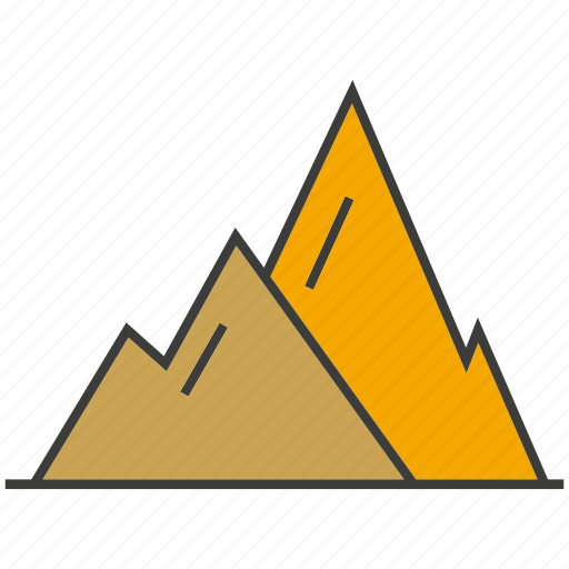 cement, concrete, mine, mountain, under construction icon