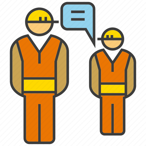 communicate, consult, engineer, mechanic, meeting, talk, technician icon