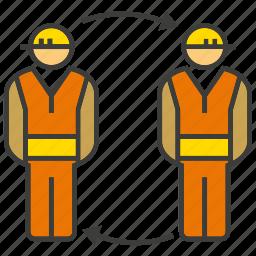 engineer, mechanic, rotate, technician icon