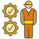 check, engineer, gear, mechanic, performance, technician icon