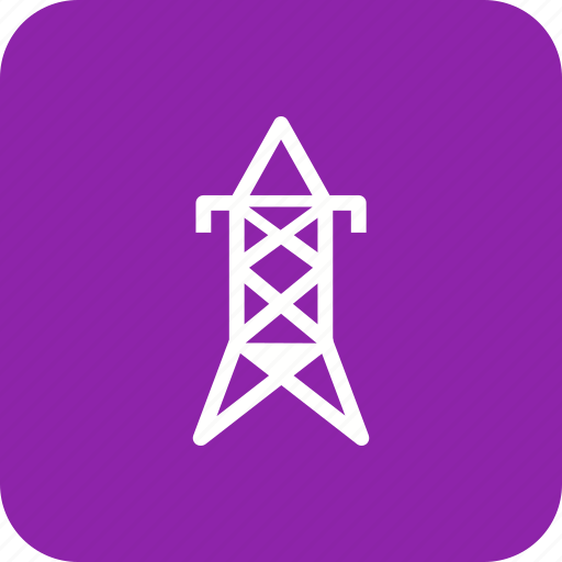 electric tower, electricity, power icon