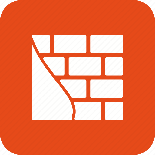 brick wall, construction, damage, wall, work icon