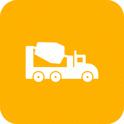 concrete, construction, machine, mixer, vehicle icon