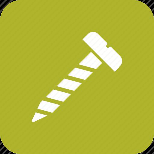 bolt, nail, screw, tool icon