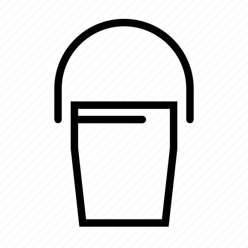 bucket, construction, mixture, sand icon