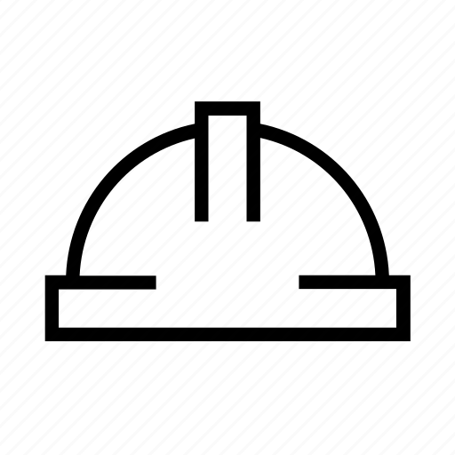construction, head, helmet, protection, safety icon