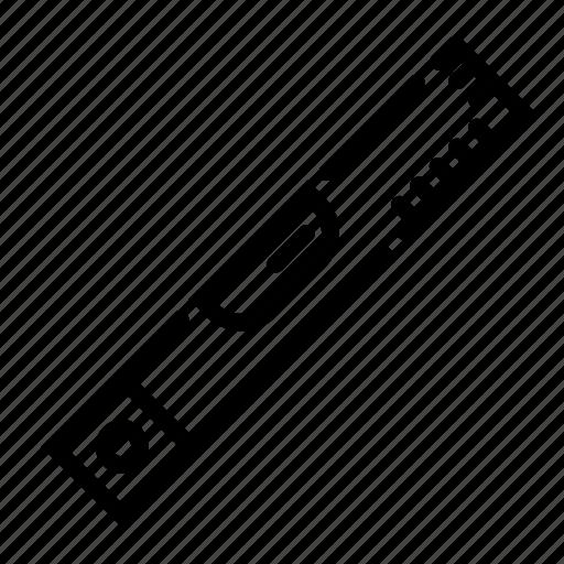 construction, even, level, measure, ruler icon