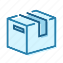 box, cardboard, construction, delivery, package, packaging icon