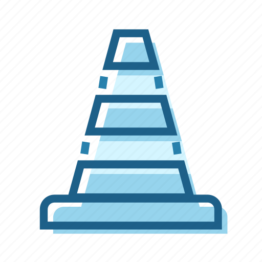 cone, construction, diversion, plastic, safety, sign, traffic icon