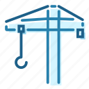 building, construck, construction, crane, heavy, lift icon