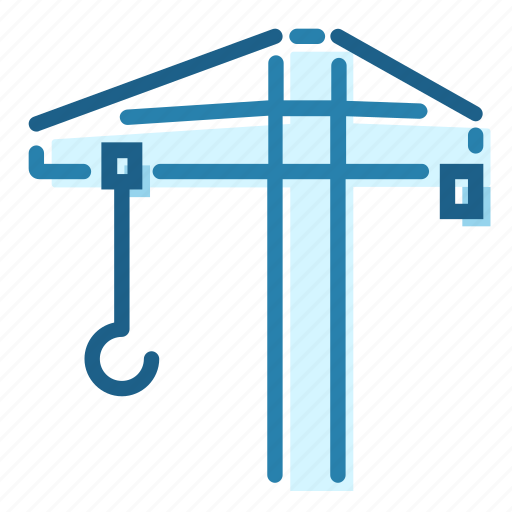 Building, heavy, lift, construck, construction, crane icon