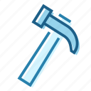 construction, crude, hammer, handle, hit, nail, tool icon