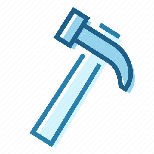 Construction, crude, hammer, handle, hit, nail, tool icon - Download on Iconfinder
