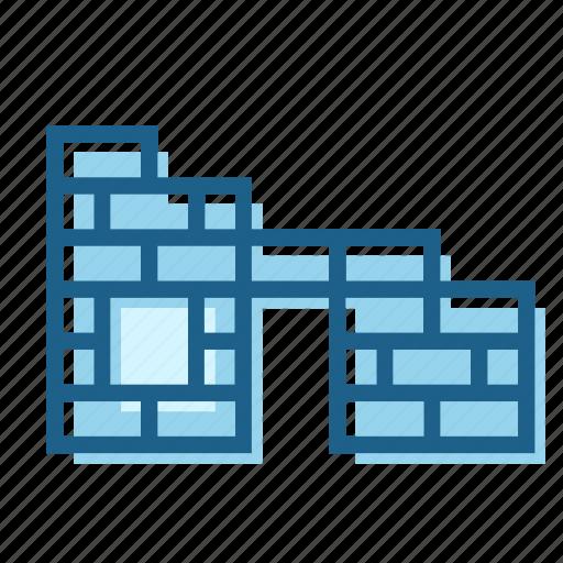brick, constructed, construction, house, progress, wall, window icon