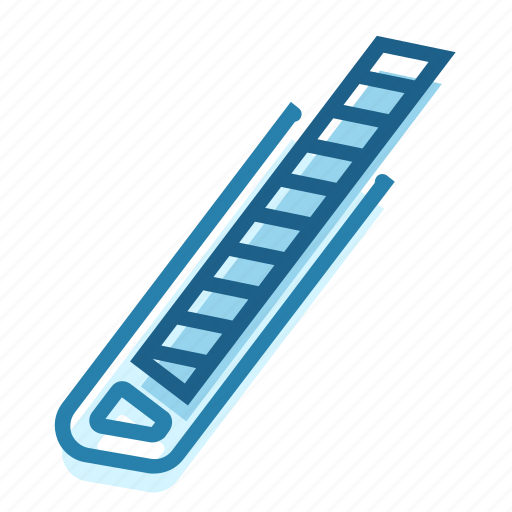 box, construction, cutter, edge, knife, sharp, tool icon