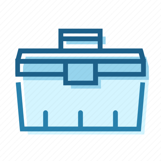 box, carry, construction, plastic, storage, store, tool icon