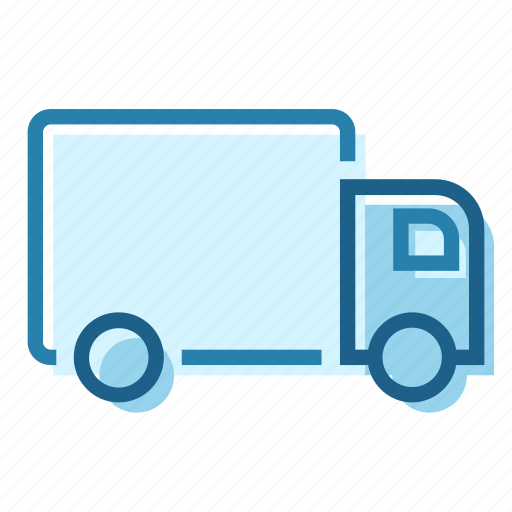 construction, delivery, lorry, transport, truck, van icon