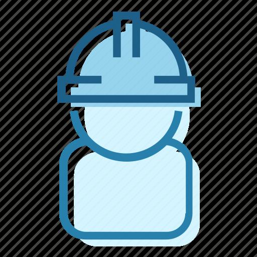 builder, construction, employee, helmet, safety, work, worker icon