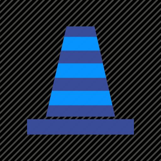 Repair, cones, construction, traffic, cone, security, road icon