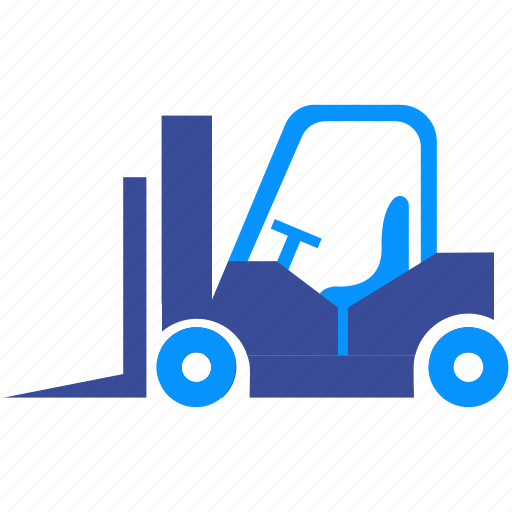 Box, cargo, forklift, shipping, loader, truck, vehicle icon