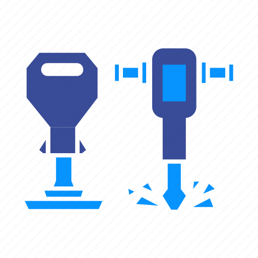builder, construction, drill, jackhammer, repair, tool, worker icon