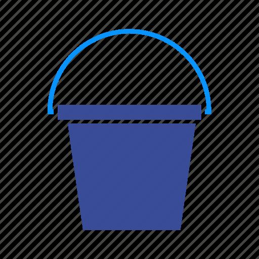 bucket, handle, household, plastic, pot, wash icon