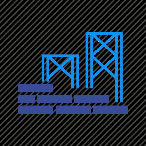 brick, bricklayer, brickwork, concrete, construction, pattern, wall icon