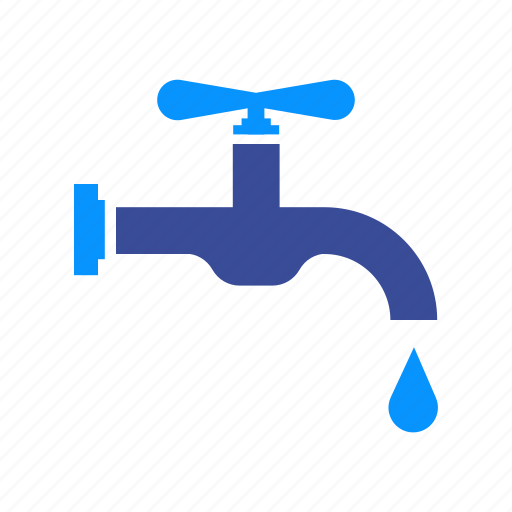 drip, faucet, flow, handle, supply, water icon