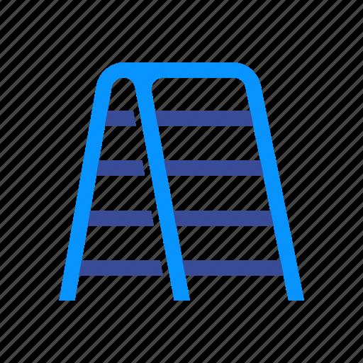 climb, construction, ladder, step, stepladder, tall, up icon