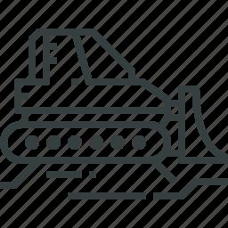 bulldozer, tracktor icon