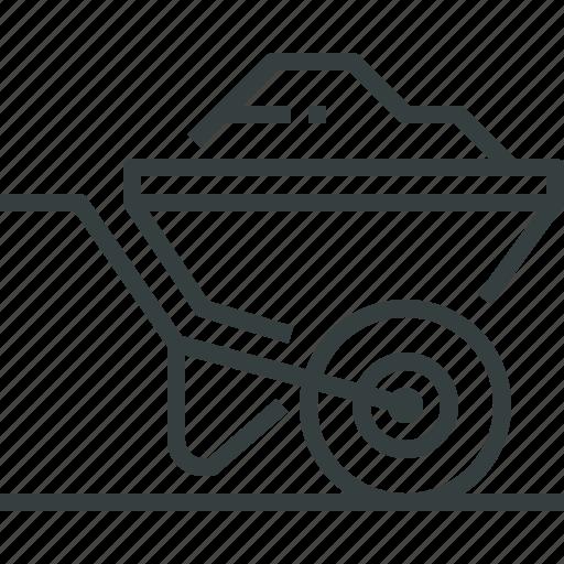 barrow, wheel icon