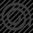 carpentry, measure, measurement, spiral, tailor, tape icon