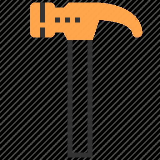 construction, equipment, hammer, repair, tool icon