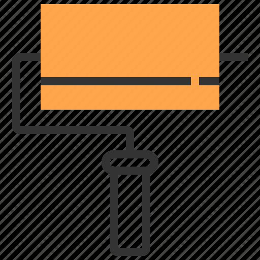 brush, construction, equipment, repair, tool icon