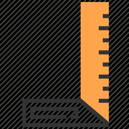 construction, equipment, repair, ruler, tool icon