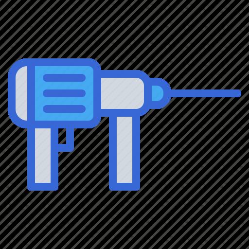 Drill, machine, equipment, construction, repair icon - Download on Iconfinder