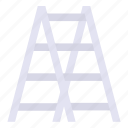 ladder, stepladder, tools, steps icon