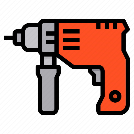 Drill, construction, tool, drilling, machine icon - Download on Iconfinder
