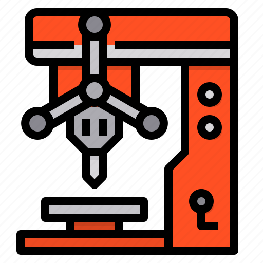 Drill, machine, tools, construction, drilling icon - Download on Iconfinder