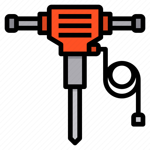 Hydraulic, breaker, construction, tool, drill, home, repair icon - Download on Iconfinder