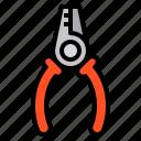 plier, construction, tool, needle, fix