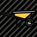 wheel, barrow, tool, transport, wheels