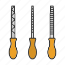 construction, instrument, metal, tool, toolkit, chisel, file