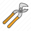 instrument, jaws, pliers, repair, saw-setting, tongue, tool icon