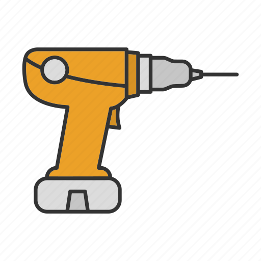 Drill, electric, machine, screwdriver, tool, power drill icon - Download on Iconfinder