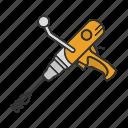 cement, equipment, mixer, paint, tool, concrete, machine icon
