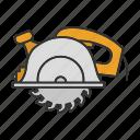 saw, tool, circular saw, cordless saw, cutter, repair icon